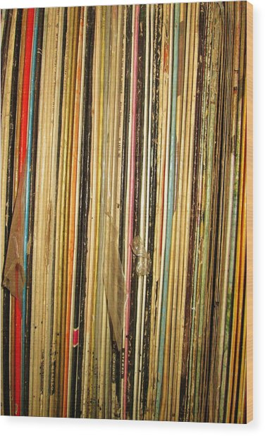 Records Wood Print