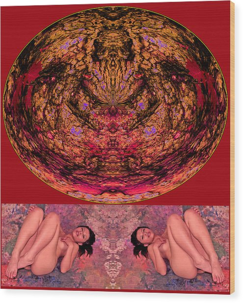 Recreate My Natural Self 2014 Wood Print by James Warren