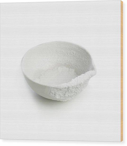 Recrystallised Rock Salt Wood Print by Science Photo Library