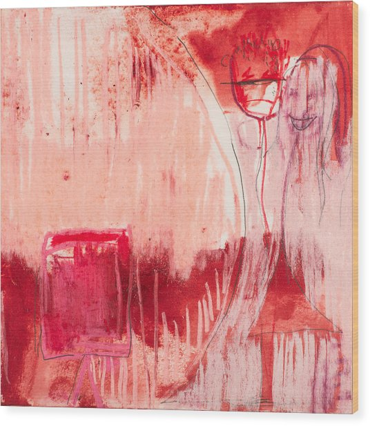 Red. 4 Wood Print by Marie Tosto