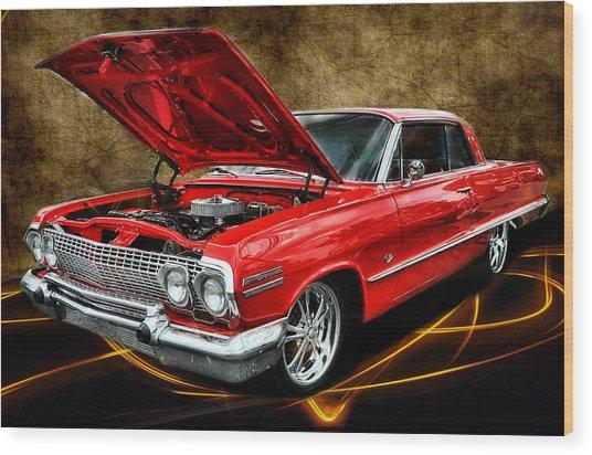 Red '63 Impala Wood Print