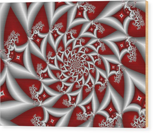 Red An Gray Wood Print
