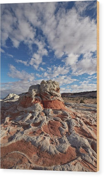 Red And White Sandstone Formations Wood Print by James Hager / Robertharding