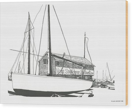 Red Bank Boat Club Wood Print