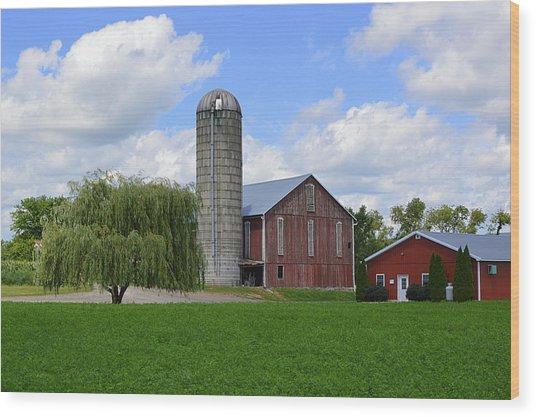 Red Barn #1 - Mifflinburg Pa Wood Print