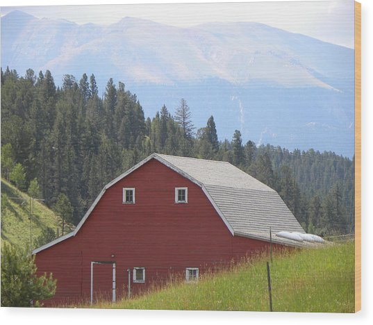 Barn - Pikes Peak Burgess Res Divide Co Wood Print