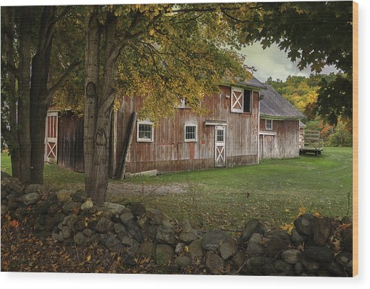 Connecticut Red Barn Wood Print