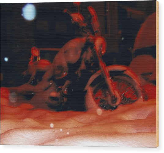 Red Bike Wood Print