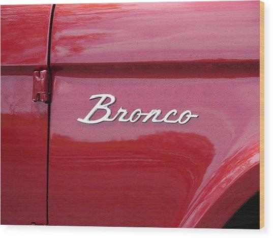 Red Bronco I Wood Print