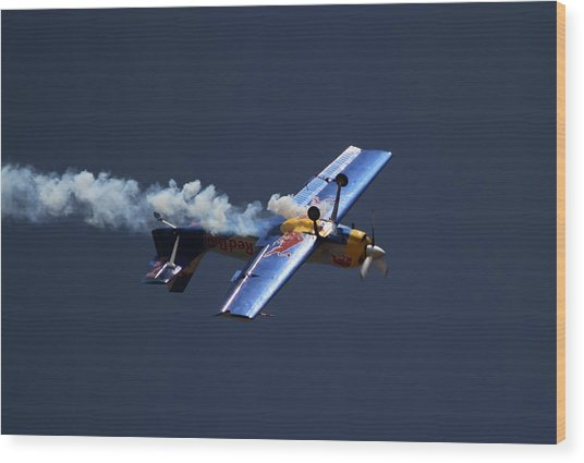 Red Bull - Inverted Flight Wood Print