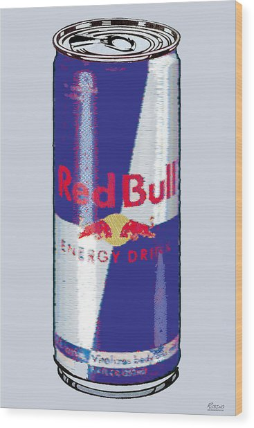Red Bull Ode To Andy Warhol Wood Print