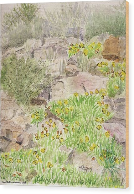 Red Butte Gardens Wood Print