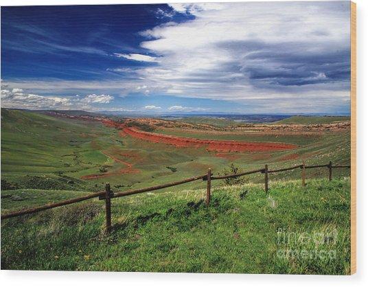Red Canyon Wyoming Wood Print