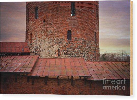 Red Castle Walls Wood Print by Jolanta Meskauskiene