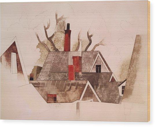 Red Chimneys Wood Print