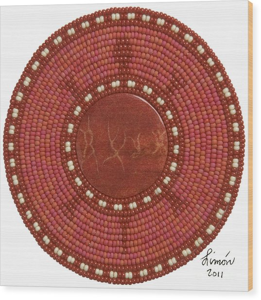 Red Coral Wood Print
