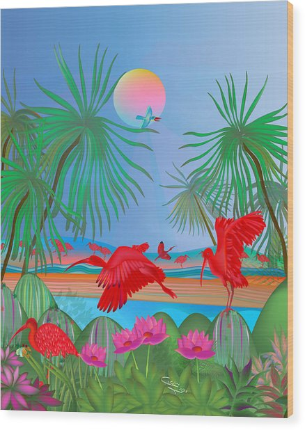 Red Corocoro -  Wood Print