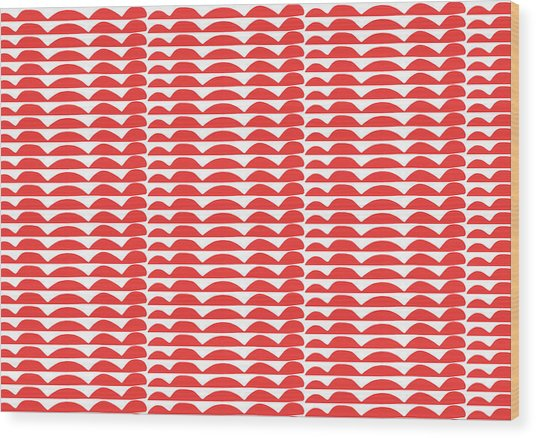 Red Cut Outs- Abstract Pattern Art Wood Print