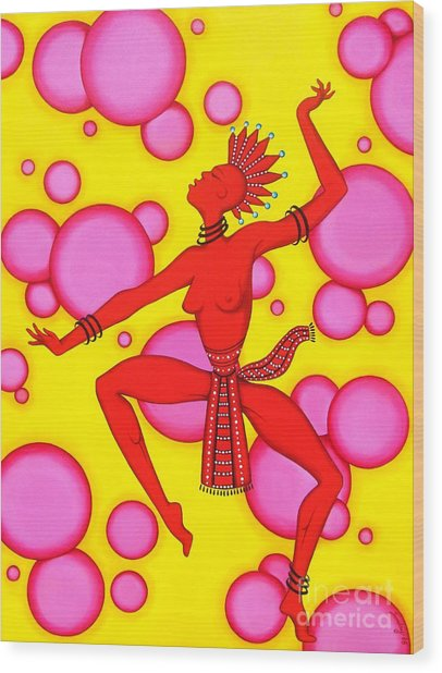 Red Dancer Wood Print