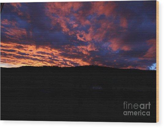 Wood Print featuring the photograph Red Dawn by Ann E Robson