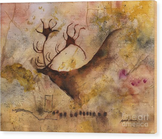 Red Deer Wood Print