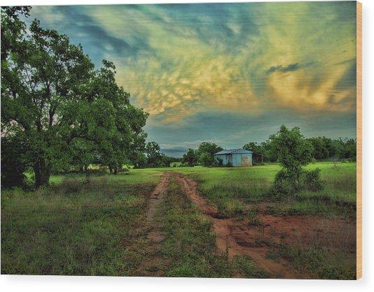 Red Dirt Road Wood Print