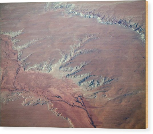 Red Earth Wood Print by Pamela Schreckengost