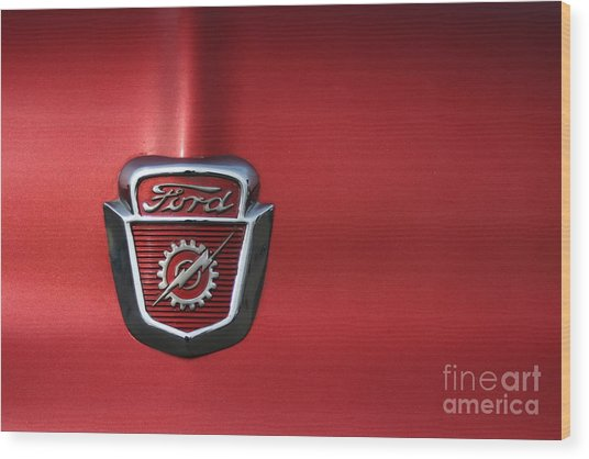 Red Ford 2 Wood Print by Kathlene Pizzoferrato