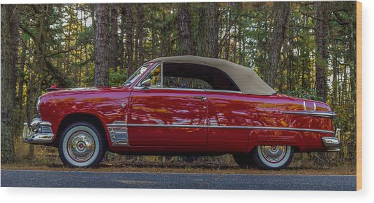 Red Ford Wood Print by Capt Gerry Hare