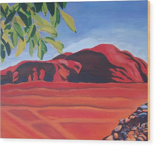 Red Hills In The Republic Of Georgia Wood Print