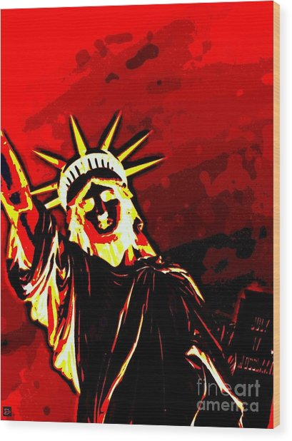 Red Hot Liberty Wood Print