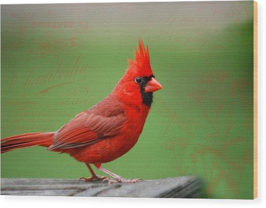 Red It Is Wood Print