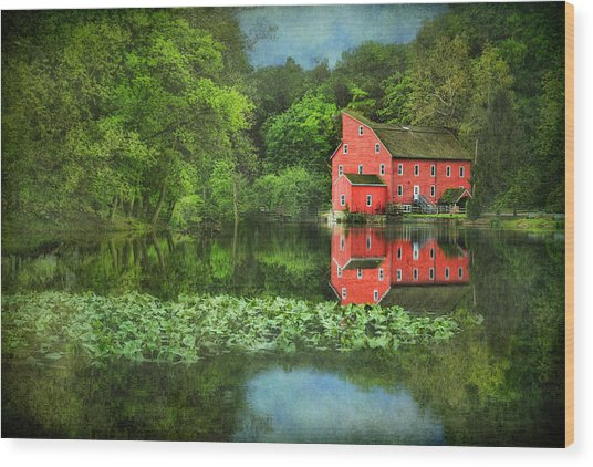 Red Mill Art Wood Print