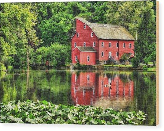Red Mill Topaz Wood Print