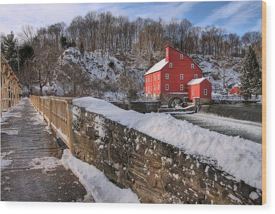 Red Mill Winter 2009 Wood Print