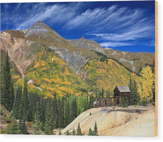 Red Mountain Mine Wood Print by Robert Yone