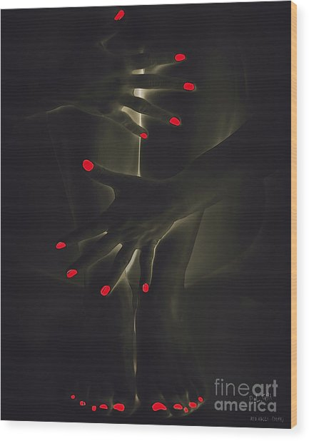 Red Nails Wood Print by Pedro L Gili