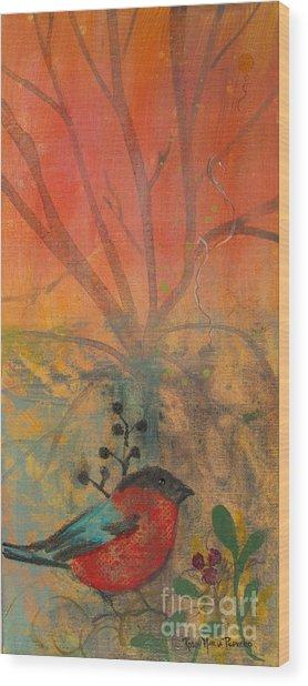Red Peace Bird Wood Print