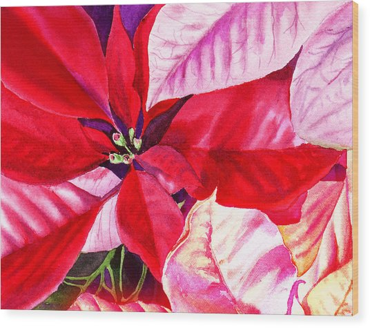 Red Red Christmas Wood Print