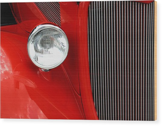 Red Red Roadster Wood Print