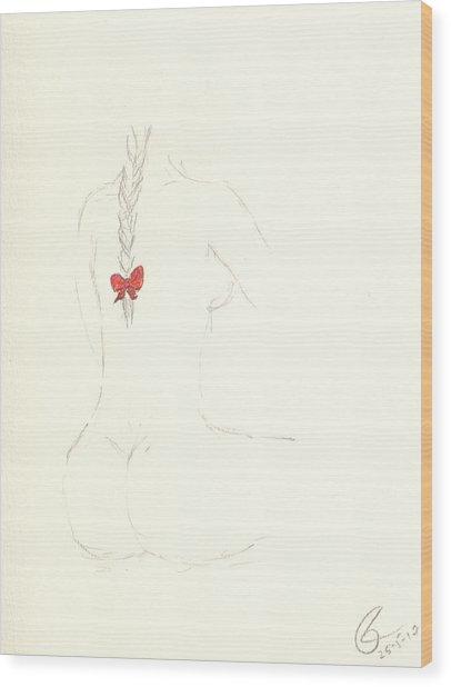 Red Ribbon Wood Print by Paolo Marini