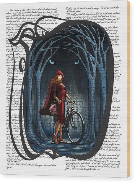 Red Riding Hood Wood Print