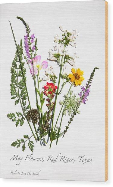 Red River May Flowers Wood Print