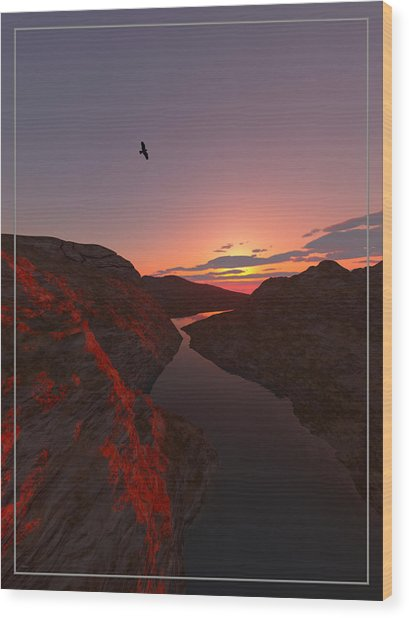 Red River... Wood Print