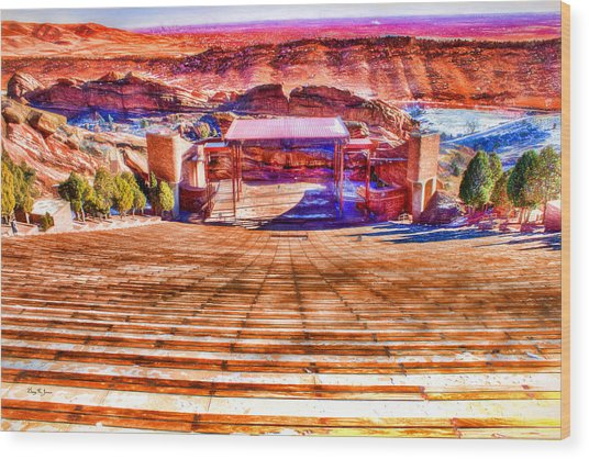 Colorado - Famous - Red Rock Amphitheater Wood Print