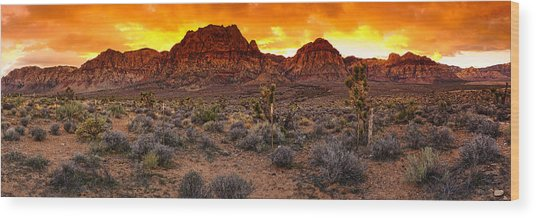 Red Rock Canyon Las Vegas Nevada Fenced Wonder Wood Print