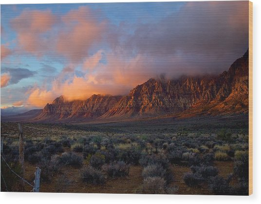 Red Rock Canyon National Conservation Area Las Vegas Wood Print