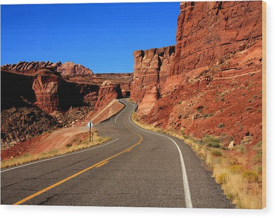 Red Rock Country Wood Print