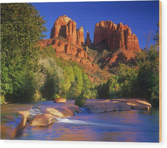 Red Rock Crossing Wood Print by Timm Chapman