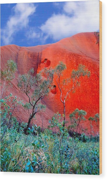 Red Rock Face Central Australia Wood Print